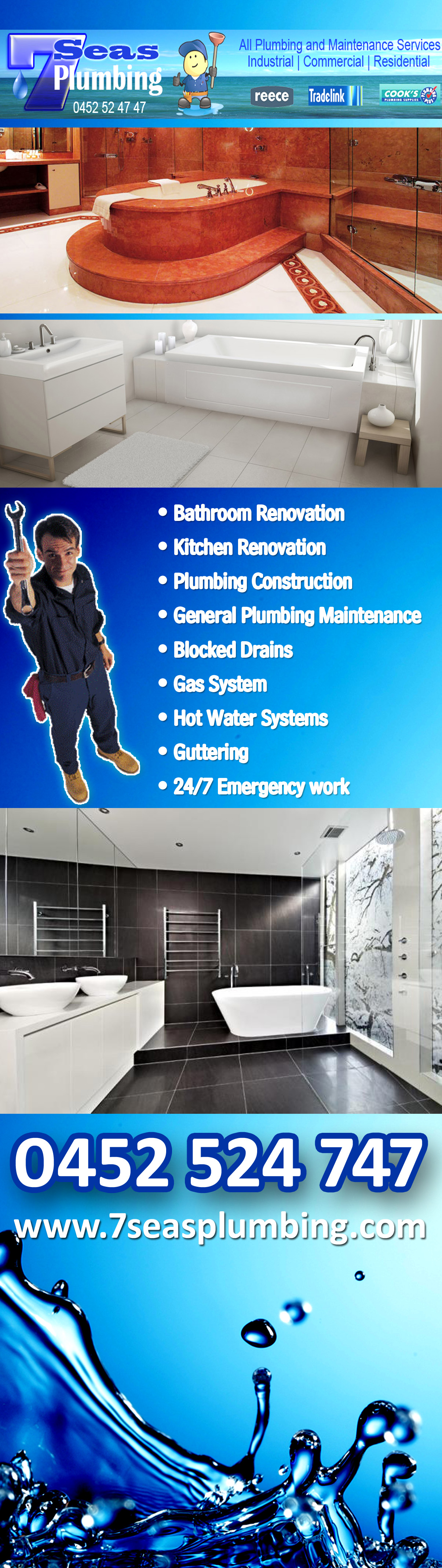 7 Seas Bathroom Renovation Plumbing Services