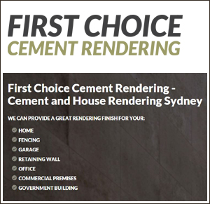 First Choice Cement Rendering