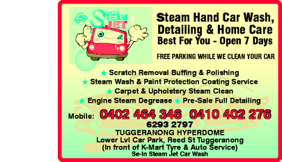 STEAM JET CAR WASH